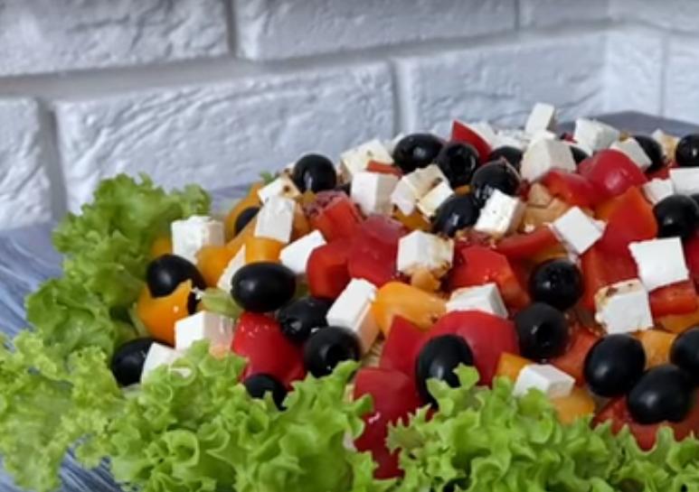 """Хрустящий салат """"Овощная сказка"""""""