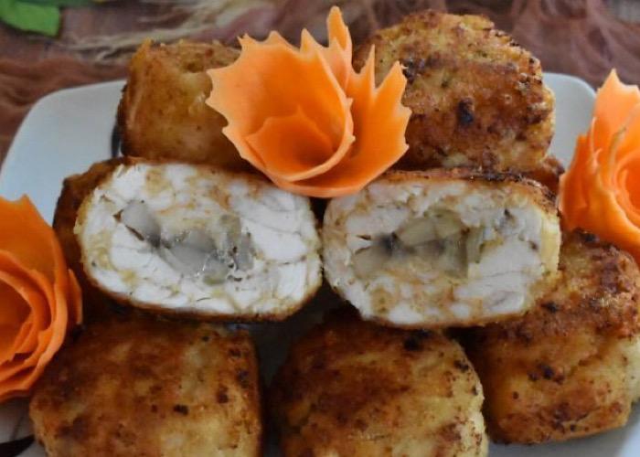 Вкусные рубленые котлеты с грибами