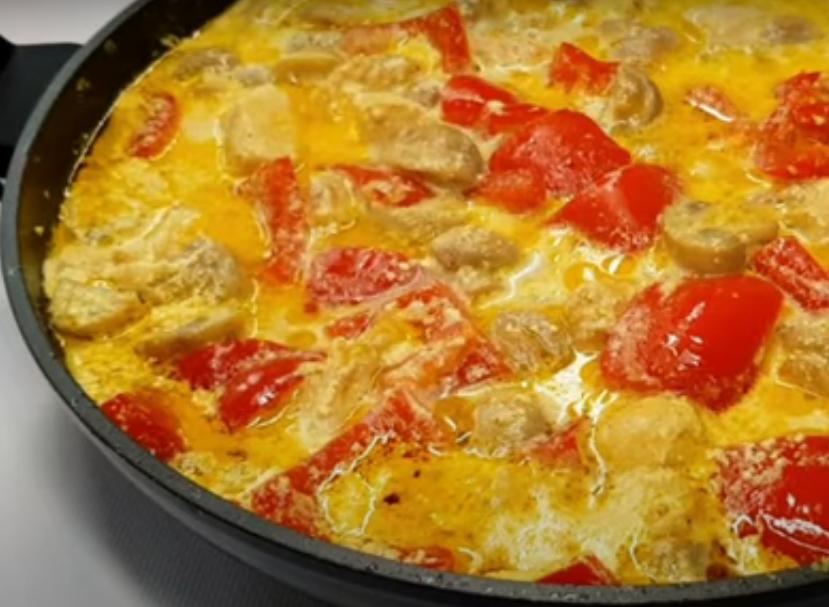 Шикарное блюдо к ужину из мяса с грибами