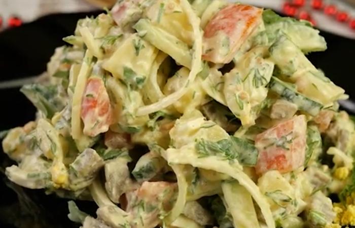 """Гениально простой, но мега вкусный салат """"Нежность"""""""