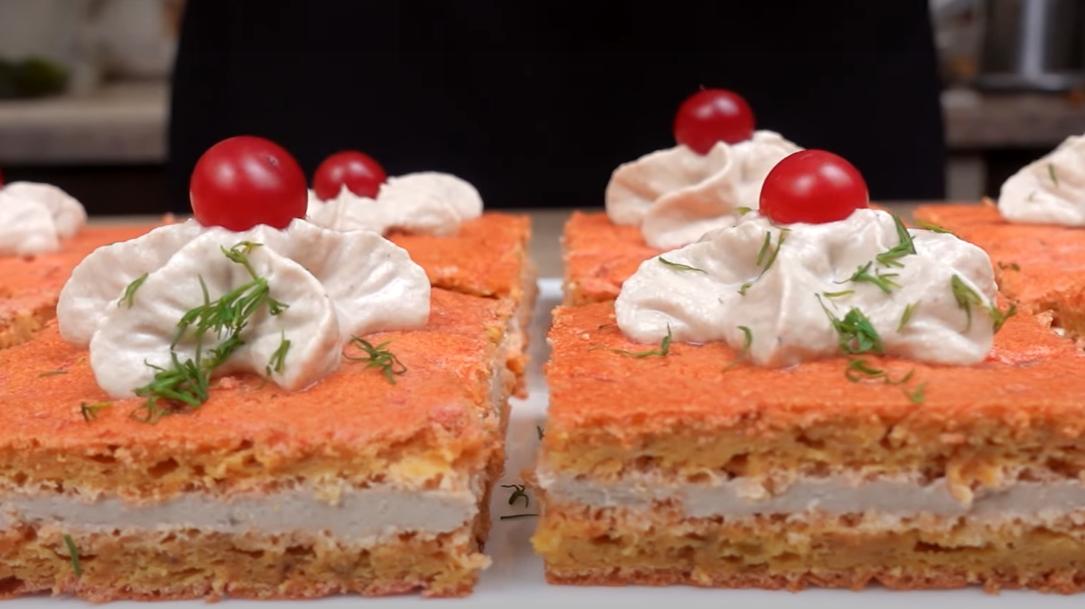 Свекольные пирожные с рыбной начинкой