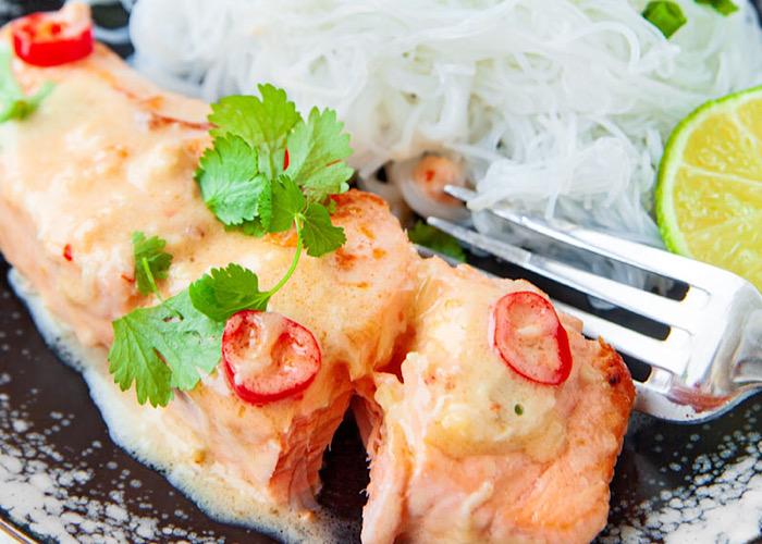 Бесподобный лосось в лаймовом соусе