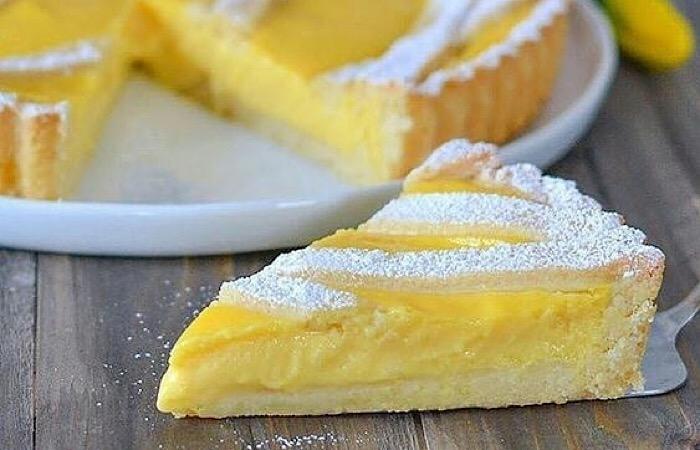 Обалденный лимонный тарт на песочном тесте