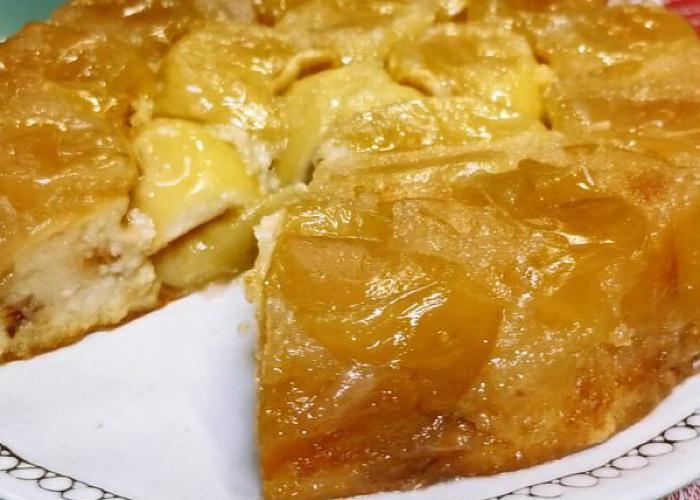 Обалденный яблочный пирог-перевертыш