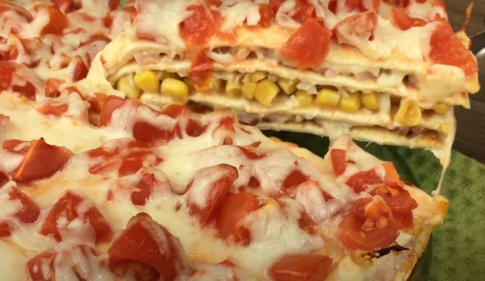 Шикарная многослойная пицца
