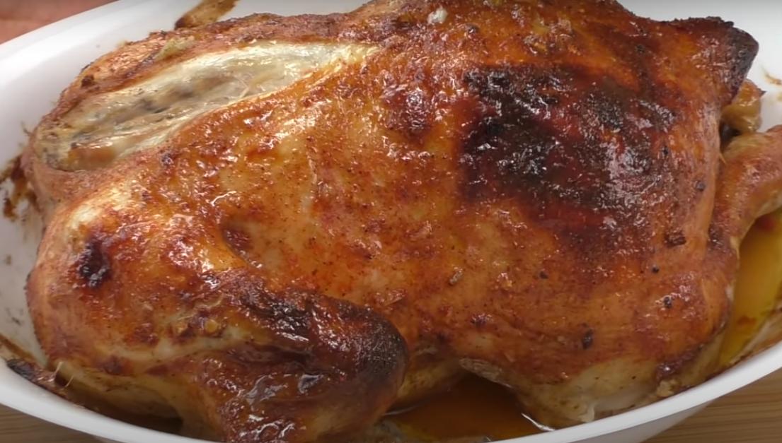 Курица, фаршированная квашеной капустой