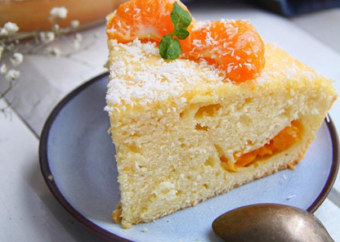 Обалденный заливной пирог с мандаринами