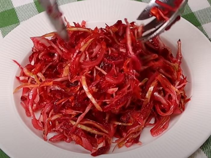 Свежий овощной салатик