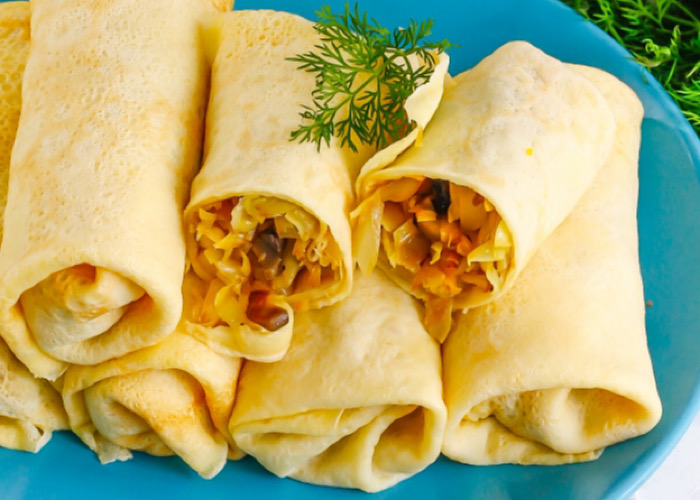 Аппетитные блины с капустой и грибами