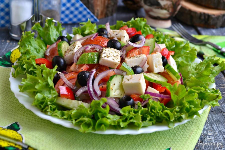 """Настоящий """"Греческий"""" салат"""