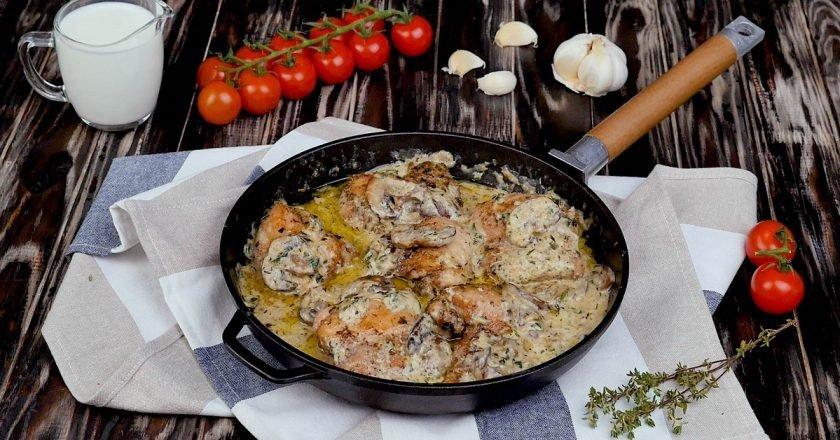 Вкуснейшие куриные голени с грибами