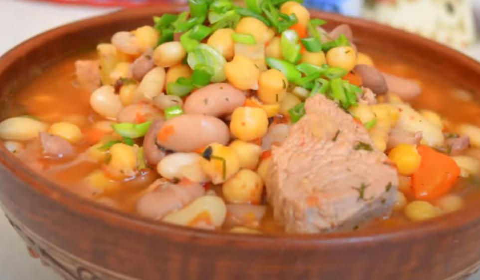 Наваристый суп с бобовыми