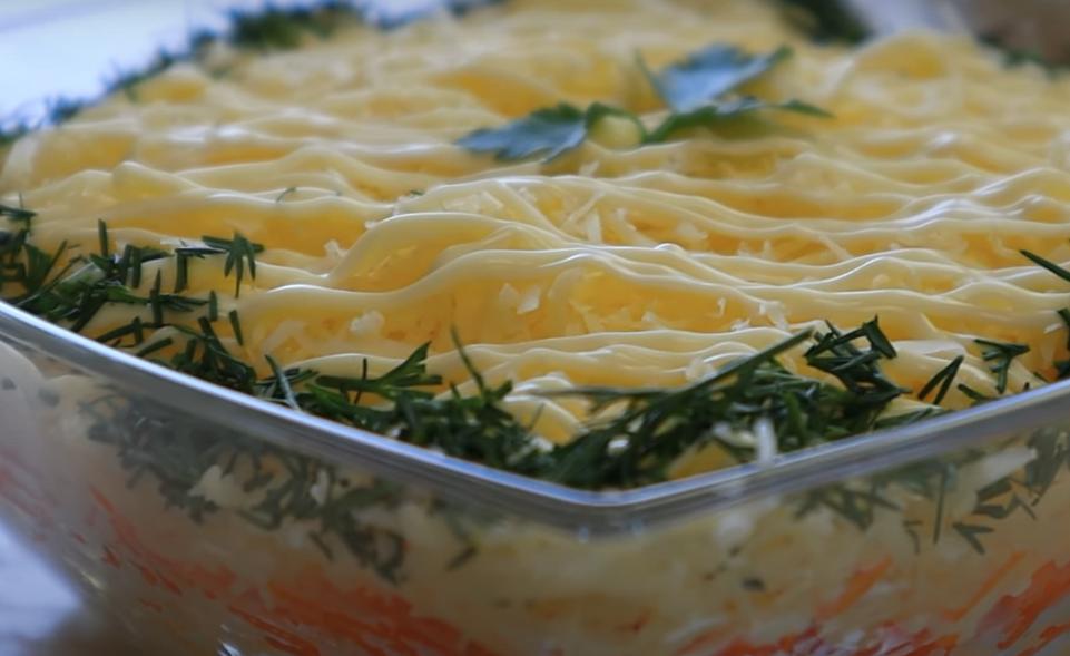 """Салат """"Воздушный"""" с морковью"""