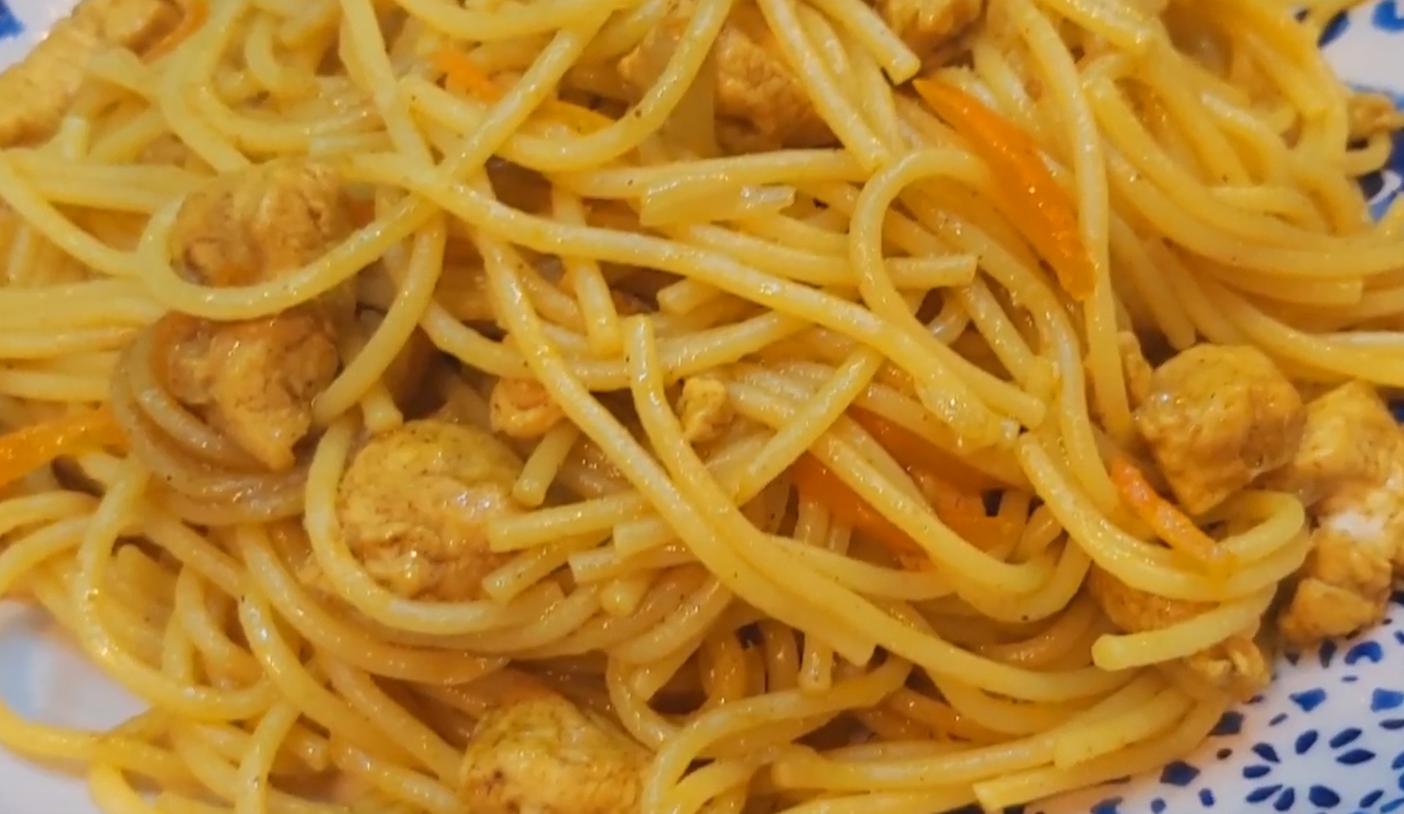 Вкуснейшие спагетти с курицей