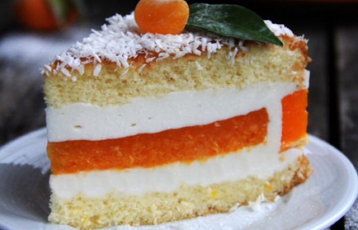 Восхитительный муссовый тортик с творогом и мандаринами