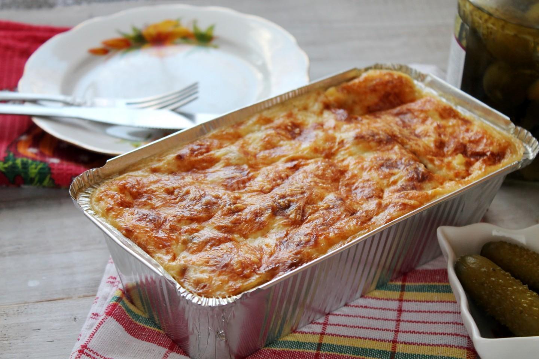 Вкусная и сочная запеканка с картофелем, куриным филе и томатом