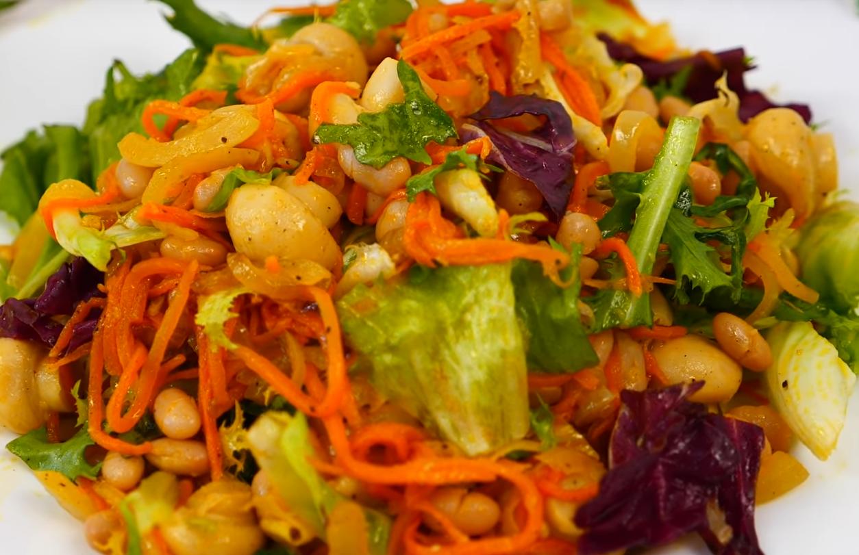 Постный яркий салатик