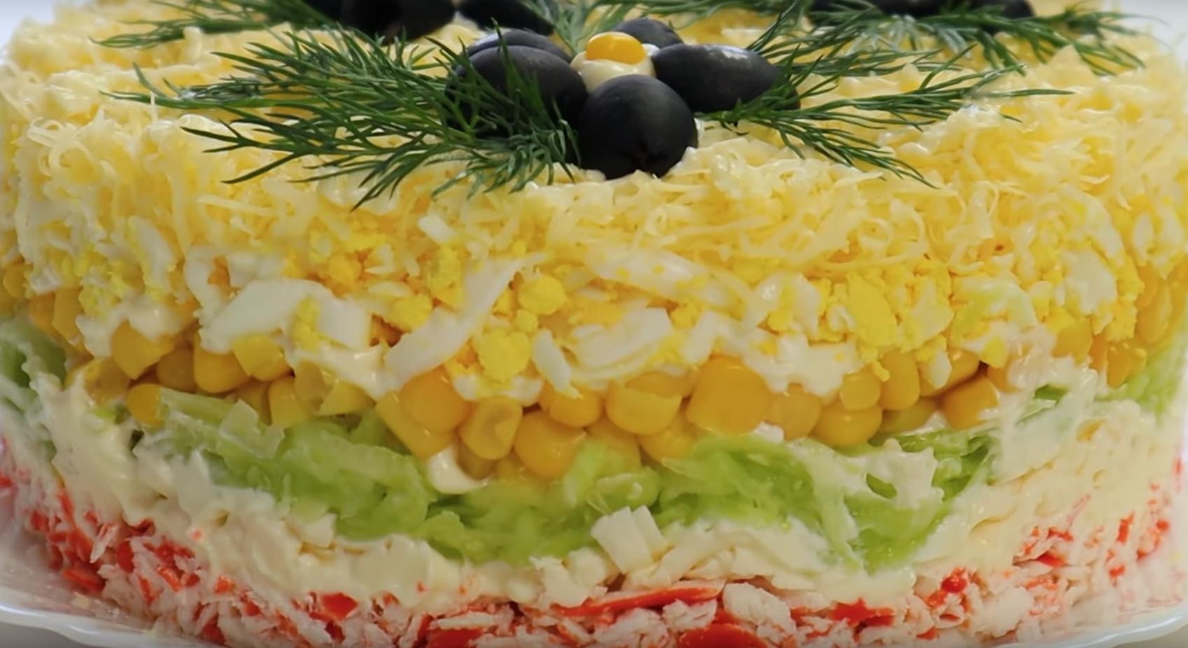 Нежный крабовый салат