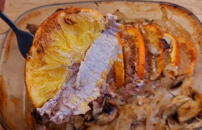 Отменная свинина, запеченная с апельсинами