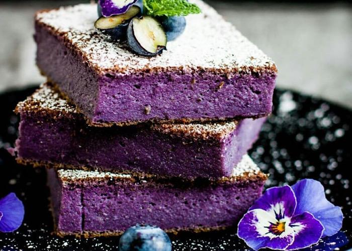 Бесподобный черничный торт без муки
