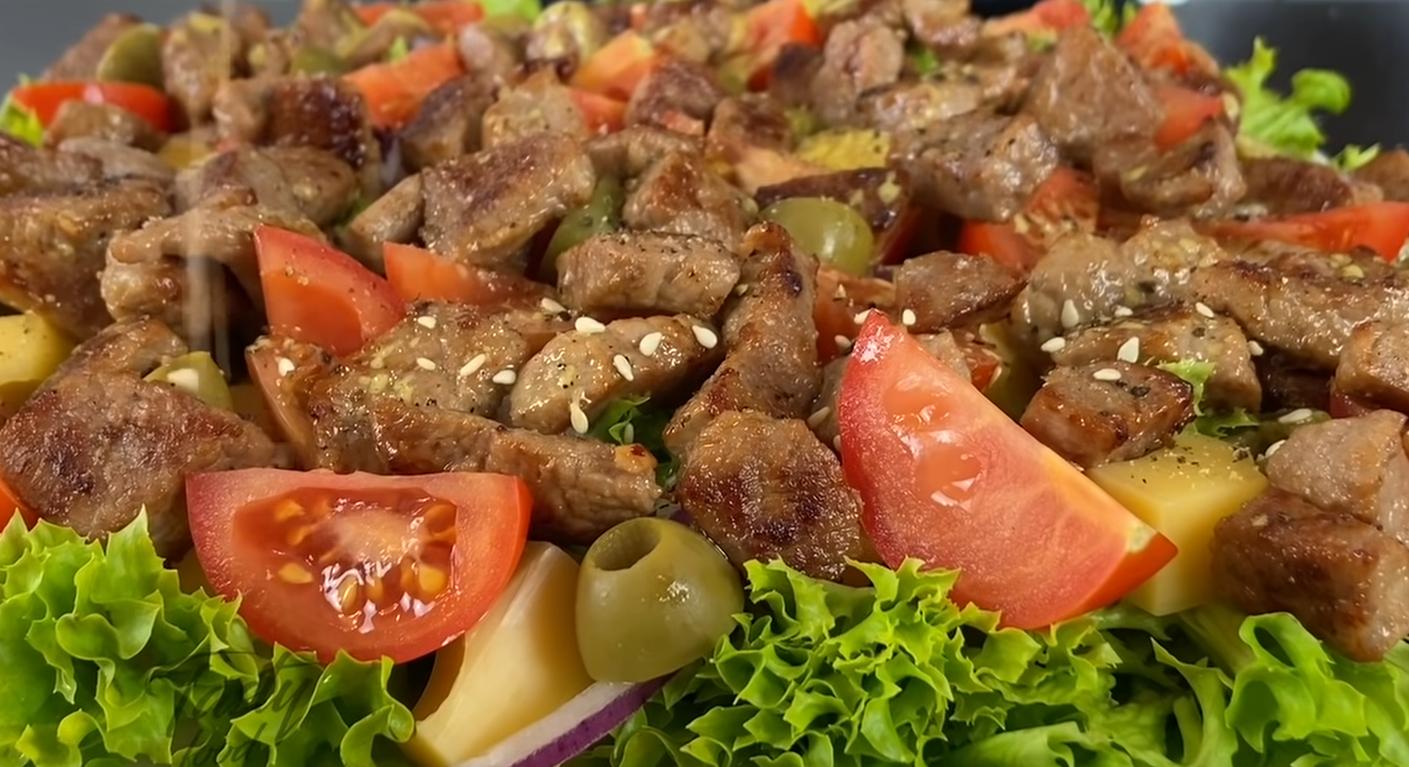 Обалденный мясной салат