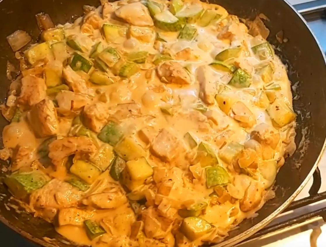 Куриное филе с кабачками: просто и вкусно
