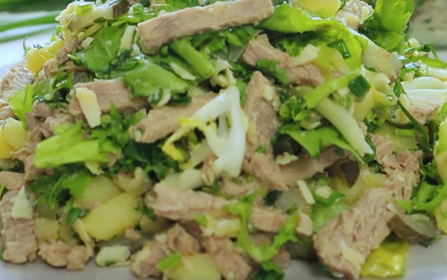 2 рецепта вкусных мясных салатов