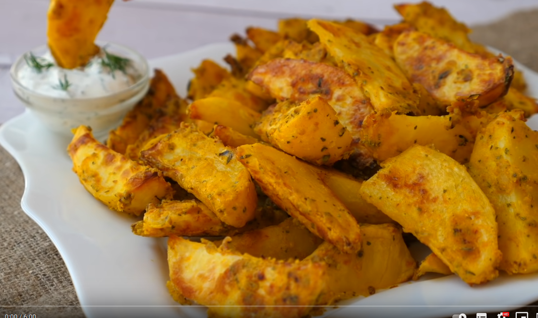 Хрустящий картофель в кляре