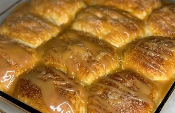 Нежнейший яблочный пирог с карамелью