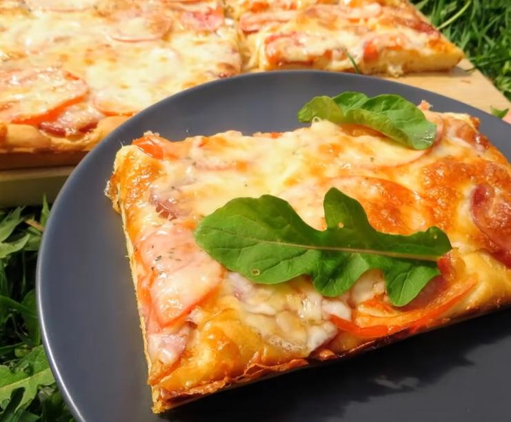 Быстрая пицца на жидком тесте