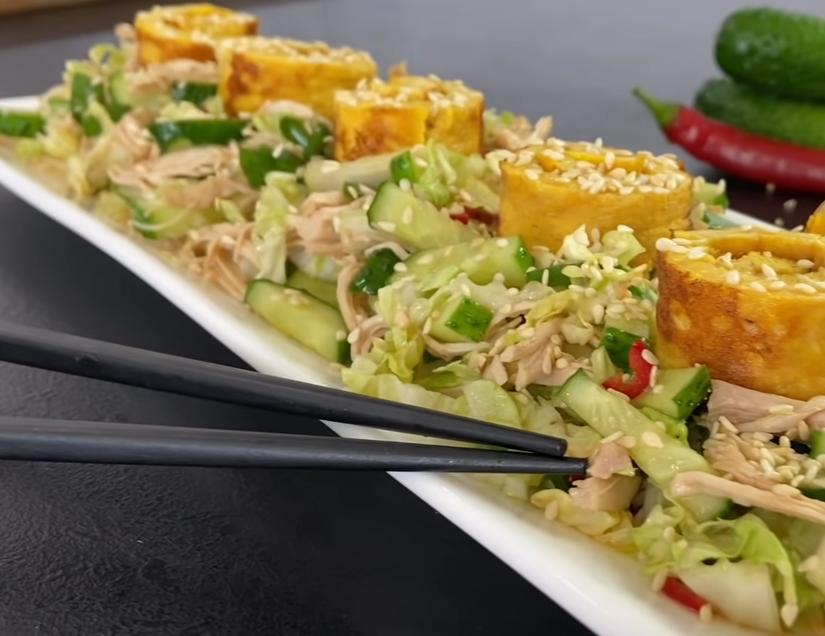 """""""Киото"""" - японский салат со свежими огурцами"""