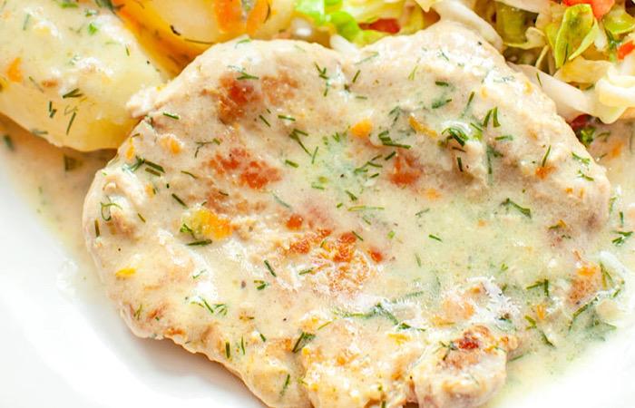 Филе свинины в укропном соусе: это просто нереально вкусно