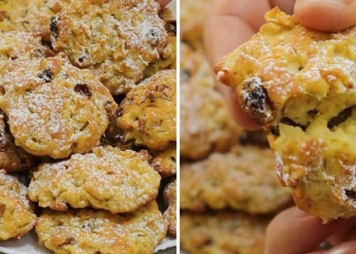 Вкуснейшее яблочное печенье с изюмом