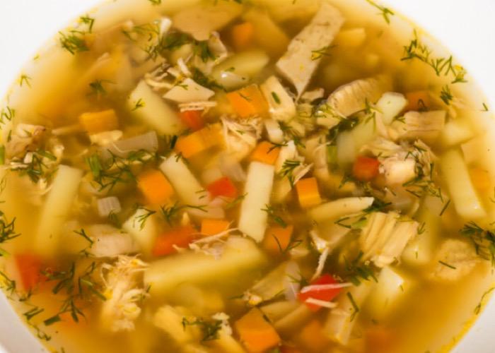 Вкуснейший суп с сушеными грибами и курицей