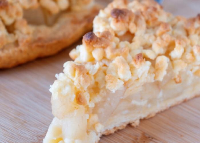 Вкуснейший тертый пирог с грушами