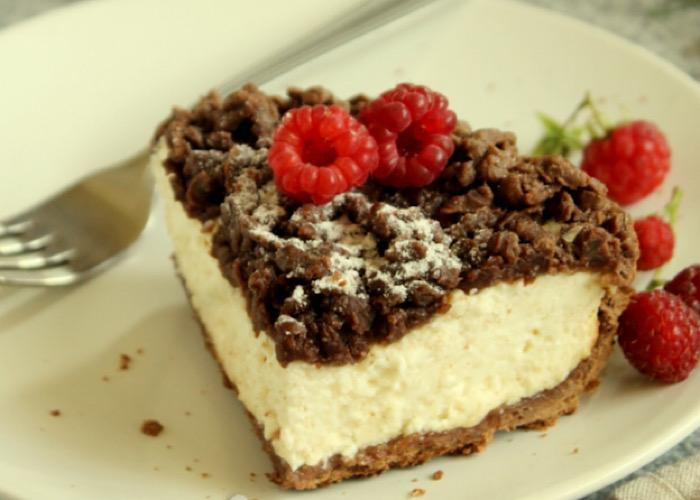Вкуснейший тертый творожный пирог с какао