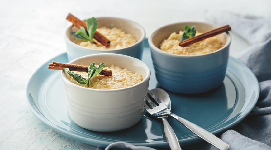 Рисовый пудинг к завтраку или на перекус
