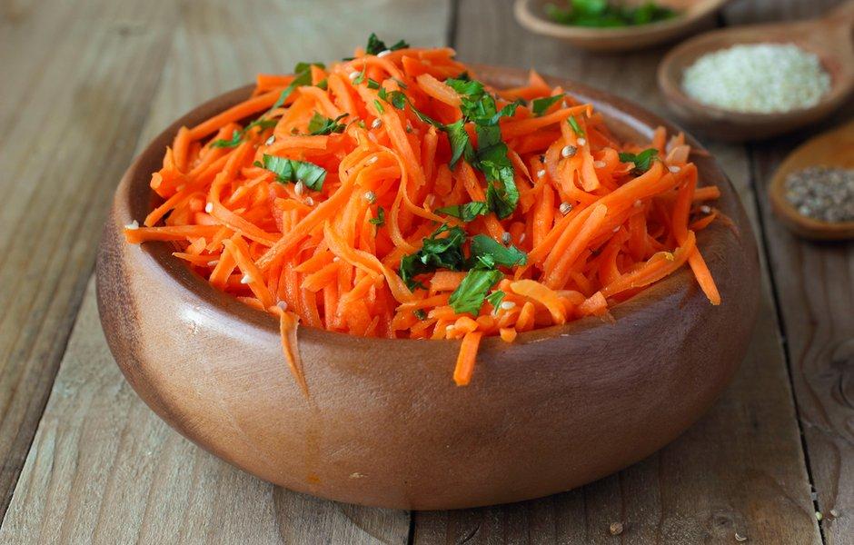 Морковь, маринованная с чесноком
