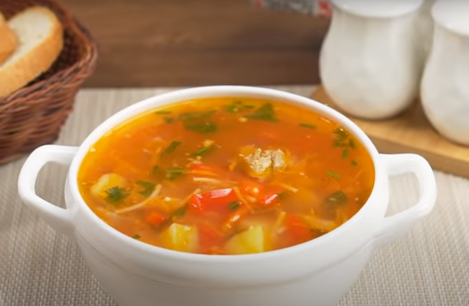 Любимый осенний томатный супчик