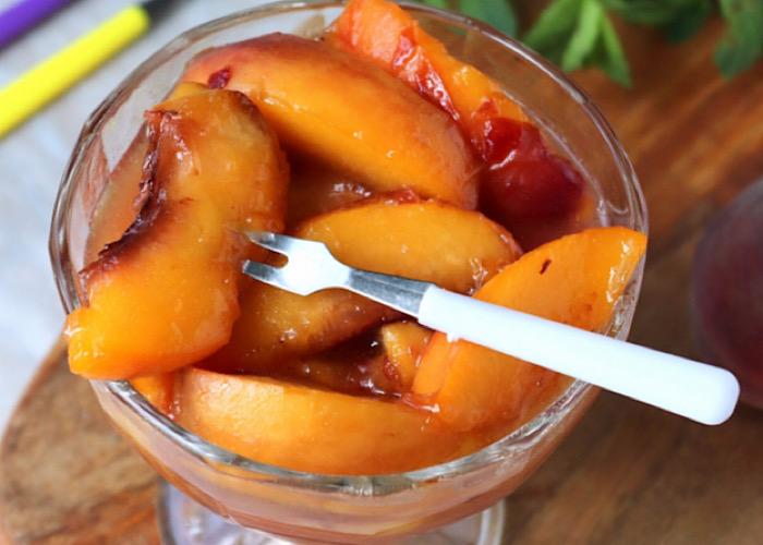 Божественно вкусные карамелизованные персики
